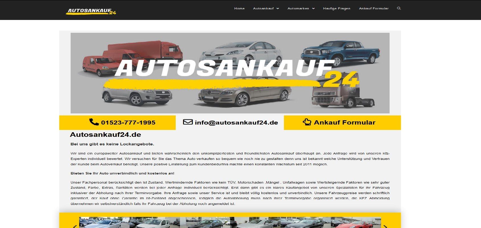 autosankauf24.de Autoankauf