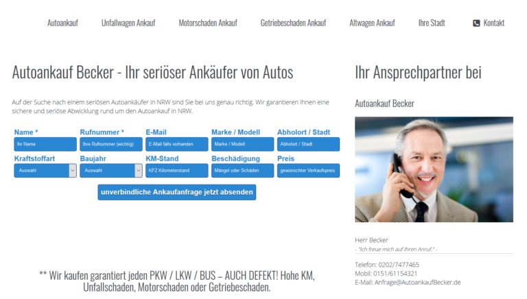 Auto sicher verkaufen? Autoankauf Oberhausen