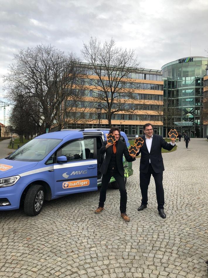 Ridepooling-Mobilitätsmacher im Münchner Norden: MVG ParkstadtTiger ist gestartet