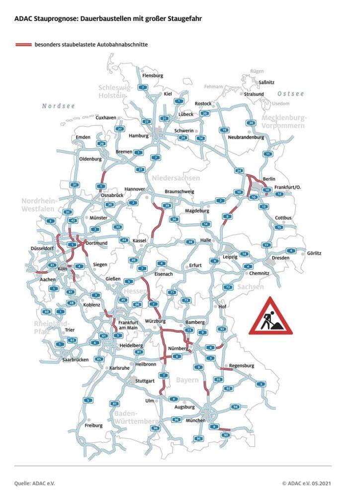 image 1 104 696x995 - Reiseverkehr nimmt an Pfingsten Fahrt auf ADAC Stauprognose für 21. bis 24. Mai