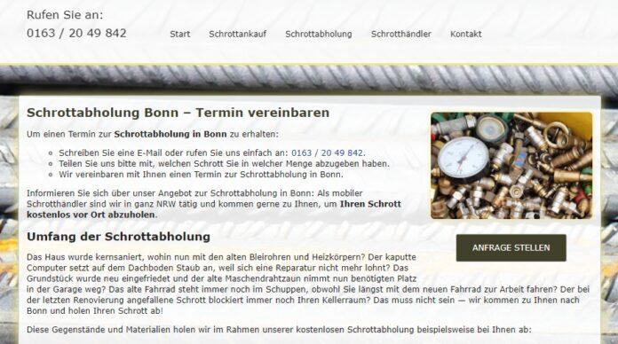 image 1 143 696x388 - Schrottabholung Bonn : Komplizierte Schrottdemontagen führen Schrotthändler aus Bonn