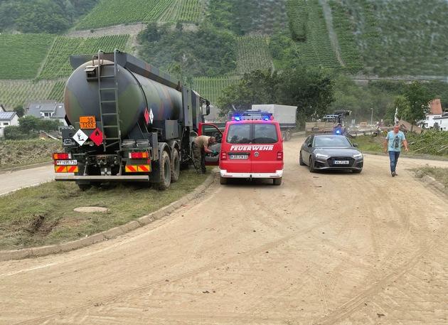 image 1 150 - Logistikkommando der Bundeswehr unterstützt bei der Hochwasserkatastrophe in Deutschland