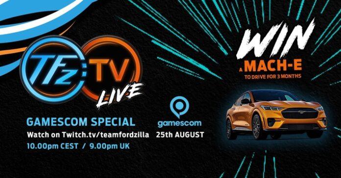 image 1 91 696x365 - Team Fordzilla mit eigener Show live zur virtuellen Gamescom 2021 - Ford Mustang Mach-E GT zu gewinnen