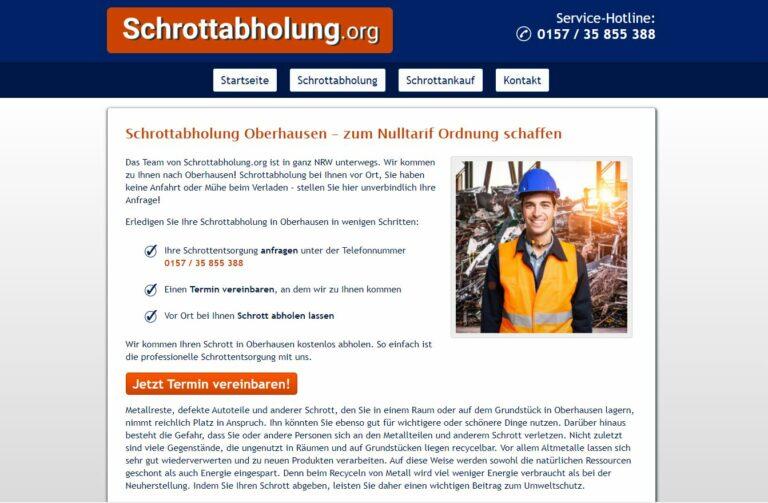 Altmetallabholung Oberhausen – Besichtigungstermin vereinbaren und schon kommen die Helfer zu ihnen und bringen Bares mit.