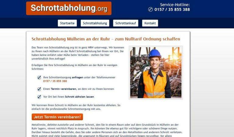 Schrottabholung in Mülheim an der Ruhr bietet diesen komfortablen Service an