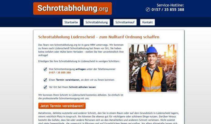 image 1 99 696x409 - Schrottabholung in Lüdenscheid - Altmetall und andere Schrottelemente ganz einfach und unkompliziert abholen lassen.